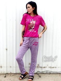 Weekend Lounge Pants in Purple Black Sequin Top, Black Sequins, Lounge Pants Outfit, Funny Pajamas, Bear Hoodie, Black Zip Ups, Pants Pattern, Sleepwear Women, Everyday Outfits