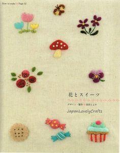 Wool Felt Embroidery Designs Japanese Craft by JapanLovelyCrafts