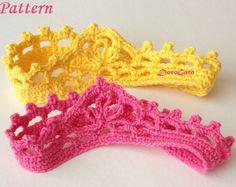 Crochet Headband, Crochet Baby Crown Pattern, Beginner Pattern, Princess Crown, Tutorial Pattern, Photo Prop Crown, Instant Download /3008/