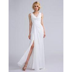 9ab26725a55fa  bridesmaiddress 2017 Long Floor-length Chiffon Bridesmaid Dress Sheath  Column V-neck with