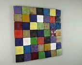 4x4 posts never looked so good as they do in this multi-colored, one of a kind wall hanging.