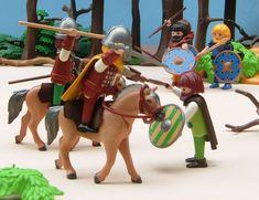 Playmobil custom Viking raiders against Franks
