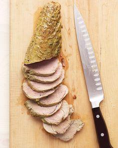Pork Tenderloin and Mustard-Wine Sauce - Martha Stewart Recipes