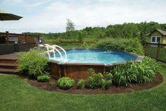 semi in ground pools - Google Search