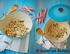 Sauteed Cranberry Beans with Sage and Garlic from @Jean | Lemons and Anchovies