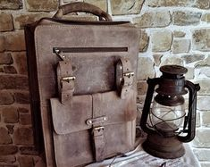 Unique style hand crafted real buffalo leather bags by guntaboutique Vintage Leather Backpack, Brown Leather Backpack, Leather Shoulder Bag, Shoulder Bags, Handmade Purses, Leather Bags Handmade, Backpack Purse, Travel Backpack, Travel Bags