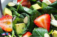 Recipes for Mothers' Day Dinner Avocado and Strawberry Salad Dinner Recipes Easy Quick, Easy Meals For Kids, Kids Meals, Avocado Spinach Salad, Spinach Strawberry Salad, Easy Kid Friendly Dinners, Mothers Day Dinner, Kids Cooking Recipes, Stuffed Sweet Peppers