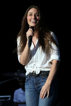 Sara Bareilles puts on a brave face to speak to her fans before her performance at The Greek Theatre on Aug. 11 in Los Angeles
