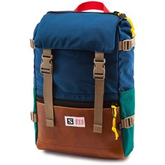 Topo x Salomon Rover Pack Backpack | Teal/Navy/Leather