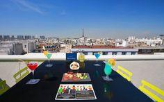 LOUNGE BAR VIEW ROOFTOP #NovotelRooftop Sur le toit de l'hôtel Novotel Paris Vaugirard Montparnasse. 257 rue de Vaugirard 75015 Paris