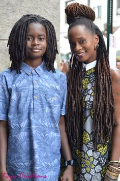 Essence Street Style Block Party 2015 Dumbo, Brooklyn, NY Image by Hassan Augustin (idefinehassan) Dreadlock Styles, Dreads Styles, Dreadlock Hairstyles, African Hairstyles, Nattes Twist Outs, Natural Hair Inspiration, Textured Hair, Hair Goals, Your Hair