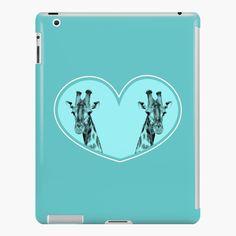 """Giraffes in a blue heart "" iPad Case & Skin by Mandsred1 | Redbubble"