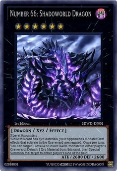 Number 66: Shadoworld Dragon - Realistic Cards - Single Cards - Yugioh ...