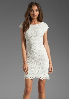 rebecca taylor all lace dress in cream wedding rehearsal dinner dress