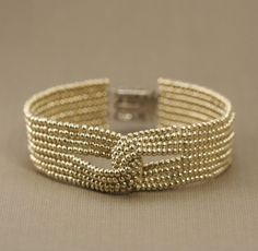 lovely herringbone stitch beaded bracelet