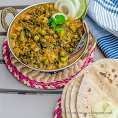 Try this Methi Mutter Masala Curry with roti or steamed rice for dinner tonight. It is tasty, healthy and easy!!