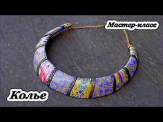 Natasha bead necklace tutorial by rusalina | Цельное колье в технике Natasha beads - Все о полимерной глине