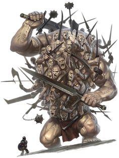 Hekatonkheir Centemani Hundred Handed Greek Mythology Monster Monster Art, Fantasy Monster, Monster Design, Greek Monsters, Myths & Monsters, Dark Fantasy Art, Mythological Creatures, Fantasy Creatures, Greek Mythical Creatures
