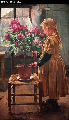 Rhododendron In Bloom, Leon Frederic (1856 – 1940, Belgian)