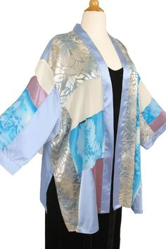 Dressy Kimono Jacket Artwear Rose Silver Turquoise Size 26/28, 30/32  SHOP NOW: Unique jackets for women Sizes 14 - 36, mother of the bride, special occasion, artwear, elegant and unique women's clothing,xoPeg #PeggyLutzPlus #PlusSize #style #plussizestyle #plussizeclothing #plussizefashion #womenstyle #summerstyle #summerfashion #springwedding #summerstyle #fallstyle #fallfashion #formal  #couture #divastyle #pluswedding #plusbridal