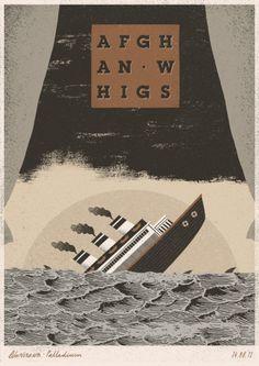 Los interesantes carteles 'retro' para conciertos musicales de Dawid Ryski | TodoGraphicDesign