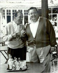 Ed Sullivan and Jackie Gleason Circa 1962 (Golf Club in Paris) Golden Age Of Hollywood, Hollywood Stars, Classic Hollywood, Old Hollywood, Hollywood Icons, Jackie Gleason, The Ed Sullivan Show, Best Golf Clubs, Vintage Golf