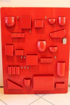 Very rare 60s 70s True Vintage Amazing red by ZeitreiseFrankfurt