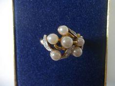 AVON Vintage Evening Creation Cluster Ring Size 5-7 Medium 1971 Ring NIB SALE! FREE SHIP!
