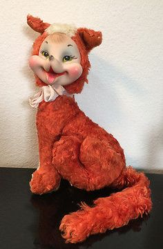 Vintage Rushton Stuffed Owl Rubber Face Hoo-o-ty Plush | What's it ...