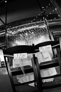Rustic Wedding Decor Chair Signs I Do  Me Too by PrinceWhitaker