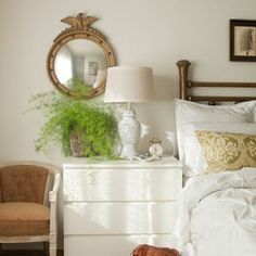 bedside vignette/malm dresser as nightstand Ikea Bedroom, Home Bedroom, Bedroom Decor, Master Bedroom, Serene Bedroom, Bedroom Night, Bedroom Ideas, Airy Bedroom, Light Bedroom