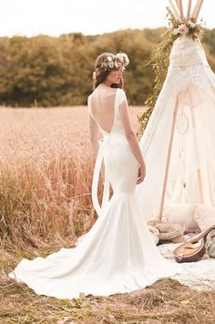 Style 2061 back Mikaella wedding dress Spring Collection