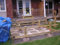 Deck Over Concrete Patio Plans
