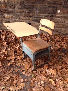 Philadelphia: Vintage antique school desk - Unique Paint! $70 - http://furnishlyst.com/listings/866530