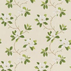 Sanderson - Traditional to contemporary, high quality designer fabrics and wallpapers | Products | British/UK Fabric and Wallpapers | Sweet Bay (DPFPSW202) | Parchment Flowers
