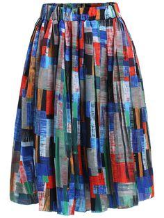Elastic+Waist+Pleated+Skirt+15.90