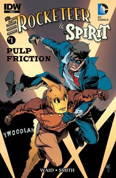Rocketeer/The Spirit: Pulp Friction! #1 (of 4) The Spirit and The Rocketeer are two of the most beloved characters in the history of comics. A Central City Councilman disappears and is found dead in Los Angeles. Commissioner Dolan, along with Denny Colt (AKA The Spirit) and his daughter Ellen in tow, treks out to the City of Angels to investigate. Meanwhile, Cliff Secord (The Rocketeer) consoles his sweetheart Betty... who is traumatized after accidentally discovering the politicians body!