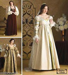 Renaissance Maiden Court Wedding Dress Pattern S3812 | eBay
