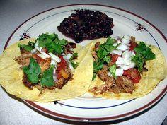 Healthy spicy slow cooker chicken tacos