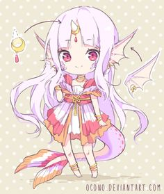 [CLOSED] ADOPTABLE | Coral Dragon by ocono.deviantart.com on @DeviantArt