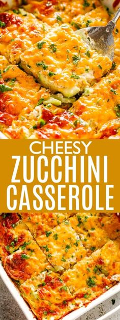 Cheesy Zucchini Casserole (Low Carb & Keto-Friendly) Zucchini Casserole - Packed full of fresh zucchini and cheddar cheese, this easy and creamy Zucchini Casserole is a delicious, low carb dinner that comes together in just 30 minutes! Easy Zucchini Recipes, Vegetable Recipes, Low Carb Recipes, Cooking Recipes, Healthy Recipes, Cheap Recipes, Healthy Zucchini, Easy Recipes, Crock Pot Recipes
