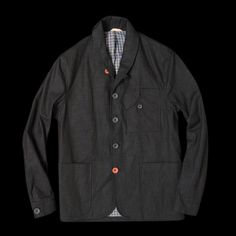 UNIONMADE - Oliver Spencer - Signalmans Jacket in Overdyed Denim Blue