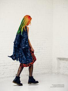 "Chloe Norgaard IN METAL MAGAZINE- ""The Misfits"" Shot By- Enrique Badulescu"