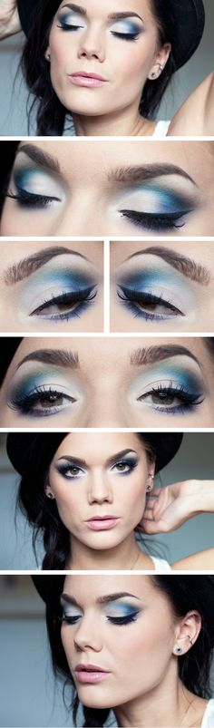 "Today's Look : "" Just give me a reason"" -Linda Hallberg ( a beautiful mix of blues and violets and icy white/silver) 04/28/13"