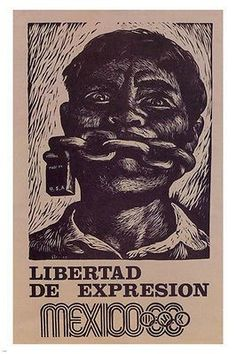 Mexico 1968- FREEDOM OF EXPRESSION poster 24X36 political CIVIL RIGHTS Brand New. 24x36 inches. Will ship in a tube. - Multiple item purchases are combined the next day and get a discount for domestic