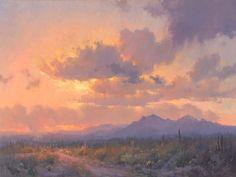 sonoran desert sunset landscape print
