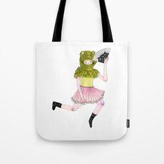 Frog Floater Tote Bag