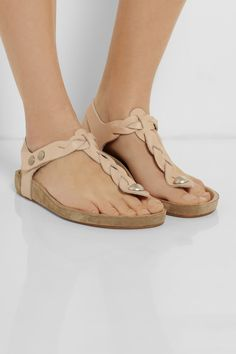 ISABEL MARANT Brook braided leather sandals