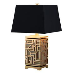 Marlowe Table Lamp – Chinoiserie Mid-Century Modern Table Lighting – Dering Hall - All For Lamp İdeas Modern Lighting Design, Cool Lighting, Lighting Ideas, Outdoor Lighting, Table Lighting, Chinoiserie, Light Table, Lamp Light, Mid Century Modern Table