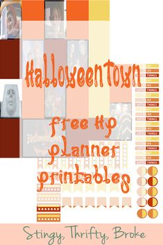 HalloweenTown Free HP Planner Printables